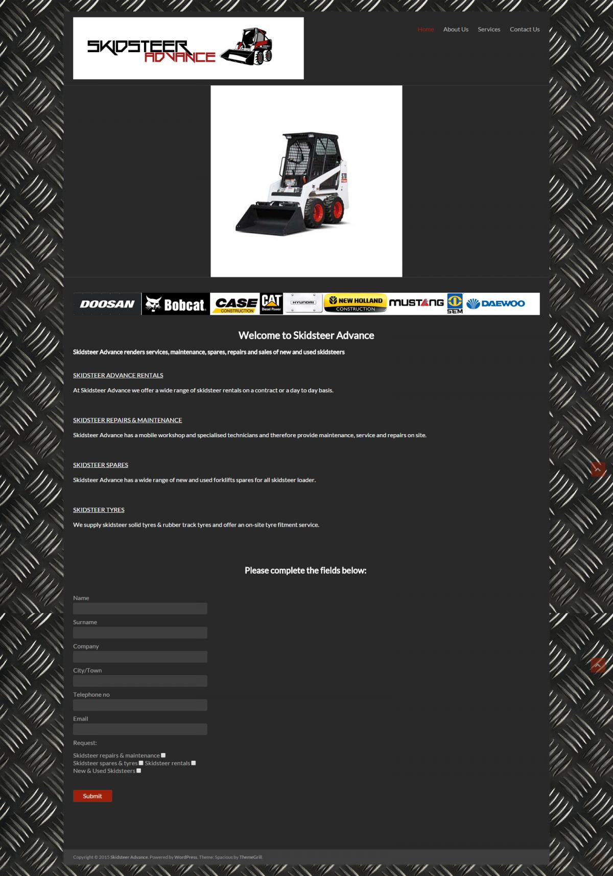 Web Design Skidsteer Advance